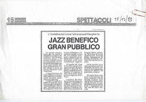 1989 articolo concerto Genova