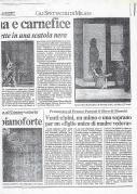 1993 Articolo concerto Milano