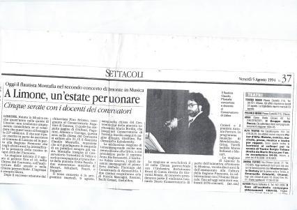 1994 articolo concerto a limone piemonte