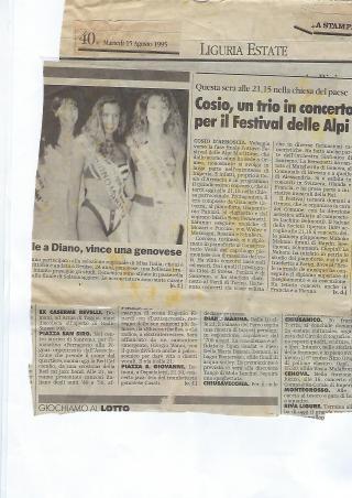 1995 articolo cosio d'aroscia imperia